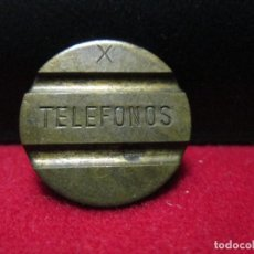 Monedas locales: FICHA DE TELEFONOS ESPAÑOLA LETRA X. Lote 113602139