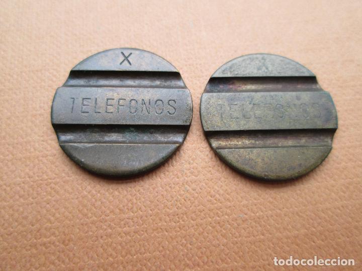 ANTIGUA FICHA ESPAÑOLA DE TELÉFONO LETRA X TELEFONOS CNTE TELEFONICA (Numismática - España Modernas y Contemporáneas - Locales y Fichas Dinerarias y Comerciales)
