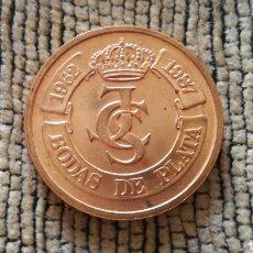 Monedas locales: FICHA BODAS DE PLATA DE JUAN CARLOS Y SOFÍA.1987. Lote 116540728
