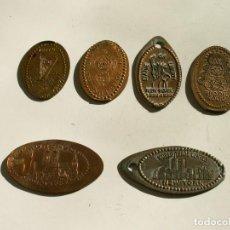 Monedas locales: LOTE DE 6 MODENAS ELONGADAS, IRLANDA, LONDRES, MUNIC,NEW YORK, EL ROCIO. Lote 117688743