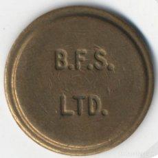 Monedas locales: TOKEN B.F.S LTD. ( REINO UNIDO ). 22MM. DE DIÁMETRO MUY BIEN CONSERVADO. Lote 117711631