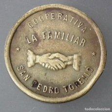Monedas locales: FICHA DE 10 CÉNTIMOS DE LA COOPERATIVA LA FAMILIAR - SAN PEDRO DE TORELLÓ. Lote 117946695