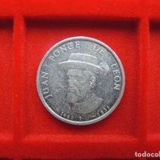 Monedas locales: FICHA - MEDALLA JUAN PONCE DE LEÓN, ESCUDO HERÁLDICO. Lote 117979871