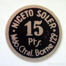 Monedas locales: FICHA-JETON . MERCADO BORNE . NICETO SOLER. Lote 118818055