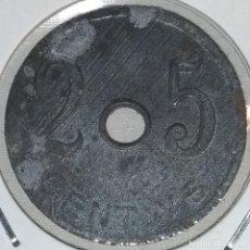 Monedas locales: GUERRA CIVIL- 25 CENTIMOS COOPERATIVA OBRERA DE PINEDA. Lote 119052347