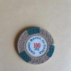 Monedas locales: MAGNÍFICA FICHA DE 100 PTA. DEL CASINO BAHÍA DE CÁDIZ.. Lote 119646087