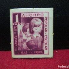 Monedas locales: 1 PESETA CARTON MONEDA CAJA DE PENSIONES. Lote 119977855