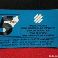 Monedas locales: VALE 5 PESETAS BANCA CATALANA AÑOS 70. Lote 120132263