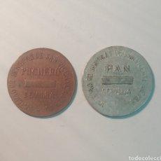 Monedas locales: FICHAS PUCHERO Y PAN, SEVILLA,SOC DE SEÑORAS DE SAN VICENTE DE PAUL, OMNIUM SANCTORUM, SEVILLA.. Lote 120298030