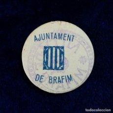 Monedas locales: MUY RARA FICHA AJUNTAMENT DE BRÁFIM (TARRAGONA) 5 CENTIMS MONEDA GUERRA CIVIL. Lote 120852211