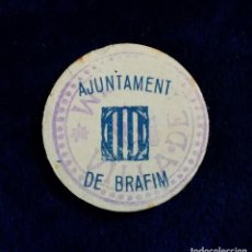 Monedas locales: MUY RARA FICHA AJUNTAMENT DE BRÁFIM (TARRAGONA) 25 CENTIMS MONEDA GUERRA CIVIL. Lote 120852787