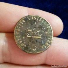 Monedas locales: FICHA COOPERATIVA CASTELLFULLITENSE 5 CENTIMOS DE CASTELLFULLIT DE LA ROCA MONEDA GUERRA CIVIL. Lote 120855887