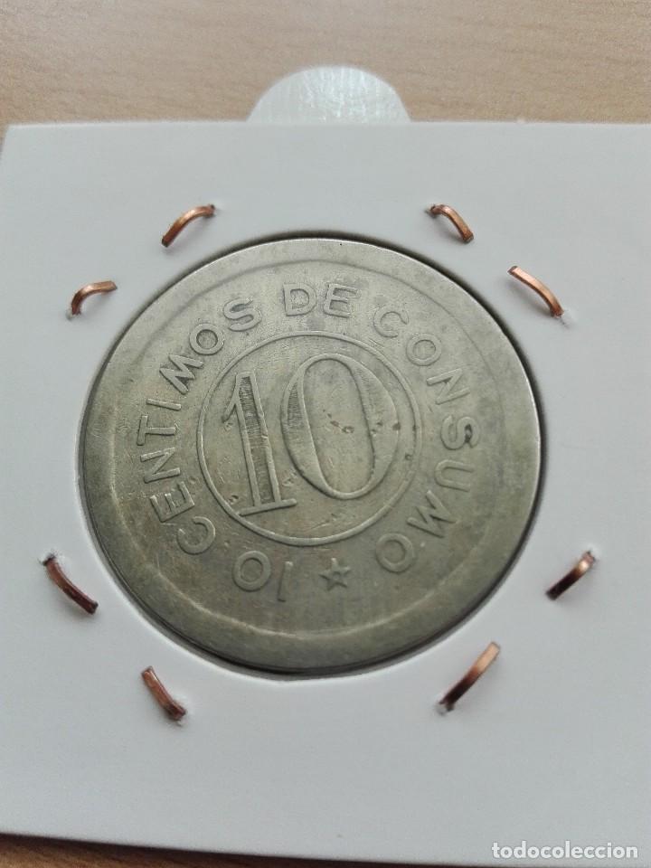 M. SUÁREZ. 10 CÉNTIMOS DE CONSUMO (Numismática - España Modernas y Contemporáneas - Locales y Fichas Dinerarias y Comerciales)
