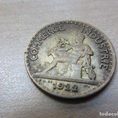 Monedas locales: INTERESANTE FICHA FRANCESA DE 50 CMS DE LAS CÁMARAS DE COMERCIO DE FRANCIA 1922 . Lote 121147531