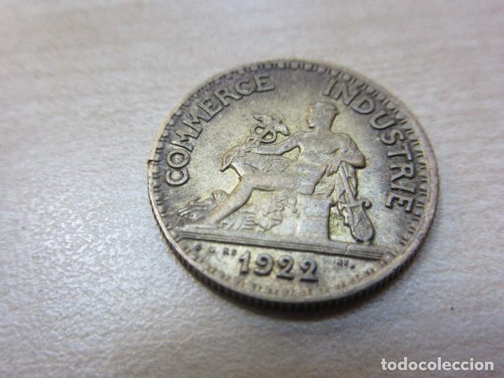 Monedas locales: Interesante ficha francesa de 50 cms de las Cámaras de Comercio de Francia 1922 - Foto 2 - 121147531