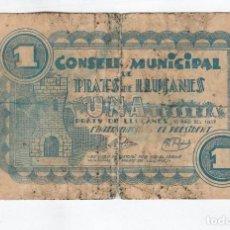 Monedas locales: PRATS DE LLUCANES- 1 PESETA- 10 DE MAYO DE 1937. Lote 121296755