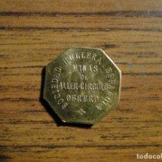 Monedas locales: FICHA DE MINAS DE ALLER ASTURIAS. Lote 121861251