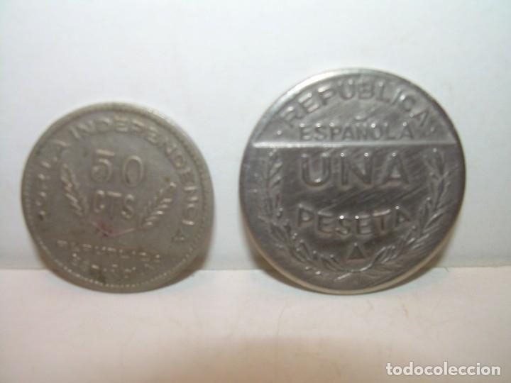 Monedas locales: DOS FICHAS DINERARIAS....CONSEJO SANTANDER, PALENCIA Y BURGOS..AÑO 1937 - Foto 4 - 122090583