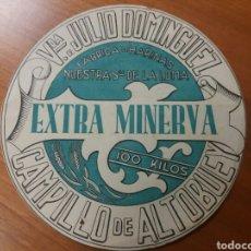 Monedas locales: CAMPILLO DE ALTABUEY. EXTRA MINERVA. HARINAS. VALE FELIX SÁEZ ARCE. Lote 122305930