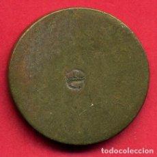 Monedas locales: MONEDA O FICHA LOCAL O DE CASINO ANTIGUA , MEDIANA CON RESELLO , ORIGINAL , B16. Lote 124063079