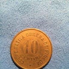 Monedas locales: COOPERATIVA OBRERA DE PINEDA. 10CENTIMOS. Lote 124440823