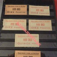 Monedas locales: SEVILLA,ESPECTACULAR LOTE PLATO UNICO, POR DIOS Y POR LA PATRIA, VER IMAGENES. Lote 124603963