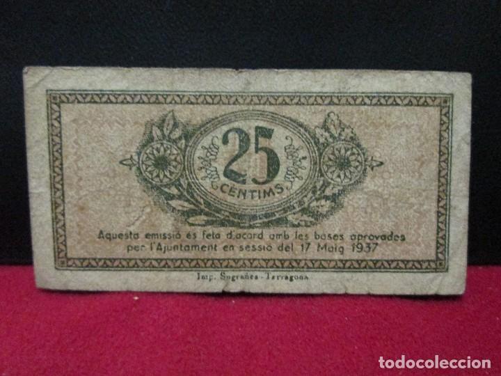 Monedas locales: 25 CENTIMS AJUNTAMENT DE TARRAGONA - Foto 2 - 125217759