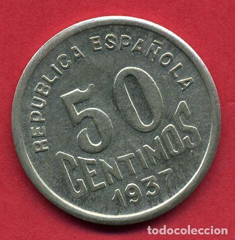Monedas locales: MONEDA LOCAL GUERRA CIVIL ,50 CENTIMOS CONSEJO ASTURIAS Y LEON 1937, EBC ,ORIGINAL, B17 - Foto 2 - 128262171