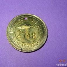 Monedas locales: ANTIGUA MONEDA DE 1 PESETA SOCIEDAD EL PROGRESO PESCADOR DE EL CABAÑAL DE VALENCIA 1902-1924. Lote 128550191