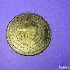 Monedas locales: ANTIGUA MONEDA DE 5 PESETAS SOCIEDAD EL PROGRESO PESCADOR DE EL CABAÑAL DE VALENCIA 1902-1924. Lote 128550355