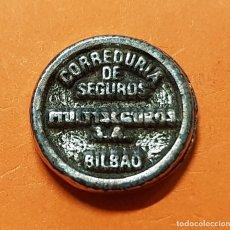 Monedas locales: BILBAO FICHA COMERCIAL / PUBLICIDAD DE CORREDURIA DE SEGUROS MULTISEGUROS SA COOPERATIVA AÑOS 70/80. Lote 129051015