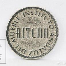Monedas locales: FICHA DINERARIA - AITEMA, INSTITUTO ANDALUZ DEL MUEBLE - 100 MERCATOR, 1995 - DIÁM. 22 MM. Lote 129157707