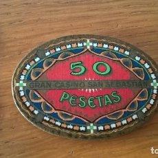 Monedas locales: FICHA DEL CASINO KURSAAL DE SAN SEBASTIÁN. 50 PESETAS. Lote 129316859