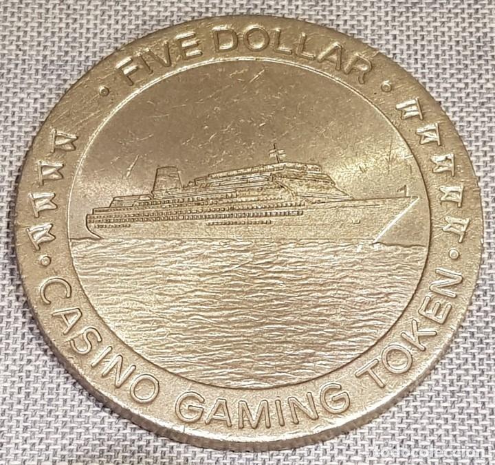 Monedas locales: FICHA DE CASINO / FIVE DOLLAR - CASINO GAMING TOKEN / 45mm Ø / MUY BUEN ESTADO. - Foto 2 - 130302454