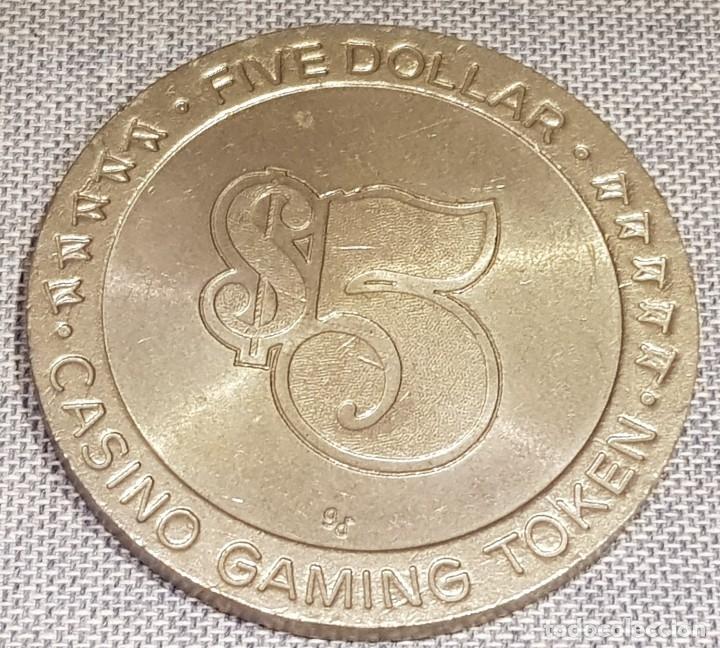 Monedas locales: FICHA DE CASINO / FIVE DOLLAR - CASINO GAMING TOKEN / 45mm Ø / MUY BUEN ESTADO. - Foto 3 - 130302454