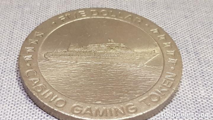 Monedas locales: FICHA DE CASINO / FIVE DOLLAR - CASINO GAMING TOKEN / 45mm Ø / MUY BUEN ESTADO. - Foto 5 - 130302454