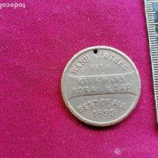 Monedas locales: MEDALLA O FICHA PUBLICITARIA DE LAVADO DE ROPA. WASH CLOTHES. ESTADOS UNIDOS. ALMIRANTE DEWEY 1899. Lote 130593866