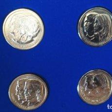 Monedas locales: LOTE CUATRO MONEDAS CONMEMORATIVAS BODAS REALES . Lote 130712094
