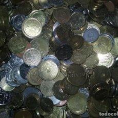 Monedas locales: LOTE 100 GRAMOS DE FICHAS, TOKENS Y JETONES MUY VARIADOS. Lote 173642638