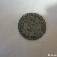 Monedas locales: FICHA DINERARIA DE 10 PESETAS MERCADO CENTRAL. Lote 131887462