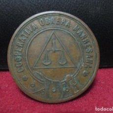 Monedas locales: 1 PESETA COOPERATIVA OBRERA MANRESANA. Lote 132741242