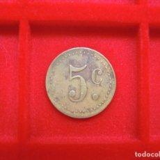 Monedas locales: FICHA - TOKEN '5 C'. Lote 133169874