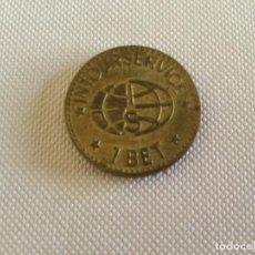 Monedas locales: FICHA DE CASINO ESPAÑA 1 BET INTOURSERVICE. RECREATIVOS FRANCO S.A.. Lote 133745698