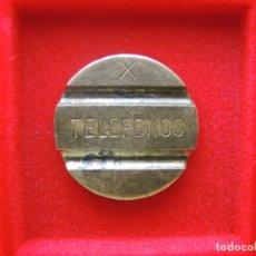 Monedas locales: FICHA - TOKEN 'TELEFONOS', SERIE 'X'. Lote 134015346