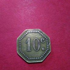 Monedas locales: FICHA/JETÓN/TOKEN. MERCADO DE ABASTOS. VALENCIA. 10 CTS.. Lote 135423386