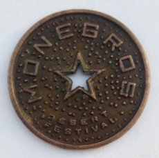 Monedas locales: 1 MONEGRINO - MONEGROS DESERT FESTIVAL - HUESCA - TOKEN - JETÓN - FICHA DINERARIA. Lote 135520862
