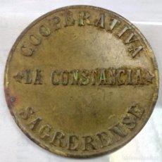 Monedas locales: FICHA DE LA COOPERATIVA SAGRERENSE LA CONSTANCIA - 10 CTS - AL1551. Lote 135675923