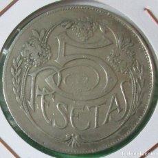 Monedas locales: ANTIGUA Y RARA FICHA, JETÓN DE 5 PESETAS. (POSIBLEMENTE DE CASINO). 37 MM.. Lote 136178162