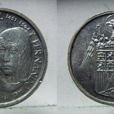 Monedas locales: REPRODUCCION DE LOS REYES CATOLICOS EN ALUMINIO. Lote 136293622