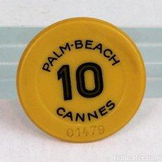 Monedas locales: FICHA DE CASINO, PALM-BEACH, CANNES, 10 FRANCOS. Lote 280123968